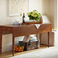 Tables - Drop-Leaf Console | Pottery Barn - drop-leaf console, drop-leaf console table, cherry drop-leaf console table,