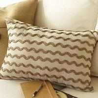Pillows - Rustic Luxe Beaded Wave Pillow | Pottery Barn - beaded pillow, rectangular beaded pillow, neutral beaded pillow,