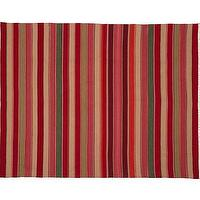 Rugs - Hermosa Stripe Recycled Yarn Indoor/Outdoor Rug | Pottery Barn - red striped rug, earth toned striped rug, red striped outdoor rug, earth toned striped rug,