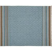Rugs - Zig-Zag Recycled Yarn Indoor/Outdoor Rug - Cool | Pottery Barn - blue zigzag rug, blue chevron rug, blue chevron outdoor rug, blue zigzag outdoor rug,