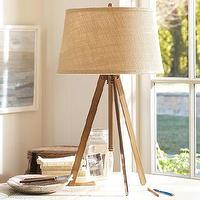 Lighting - Piedmont Table Lamp Base | Pottery Barn - surveyors lamp, tripod table lamp, tripod lamp,