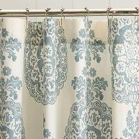 Bath - Lucianna Medallion Shower Curtain | Pottery Barn - blue and white medallion shower curtain, blue and white shower curtain, blue and white damask shower curtain,