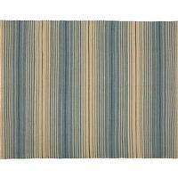 Rugs - Dennis Stripe Recycled Yarn Indoor/Outdoor Rug - Blue | Pottery Barn - striped blue and beige rug, striped blue and beige outdoor rug, blue striped outdoor rug,