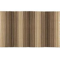 Rugs - Dennis Stripe Recycled Yarn Indoor/Outdoor Rug - Brown | Pottery Barn - brown striped rug, brown striped outdoor rug, brown and beige striped outdoor rug,