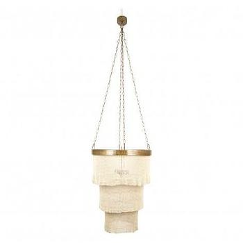 Lighting - Gilda Chandelier - Coco | Jayson Home - coco bead chandelier, coco bead pendant, woven coco bead chandelier,