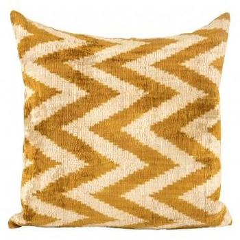 Pillows - Gold Chevron Pillow | Jayson Home - gold chevron pillow, gold silk velvet chevron pillow, gold zigzag pillow,