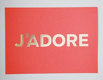 Art/Wall Decor - JADORE Coral+Gold I MadeByGirl - coral and gold jadore art, j'adore art print, coral and gold j'adore art print,
