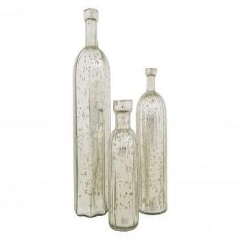 Decor/Accessories - MERCURY BOTTLES | Jayson Home - mercury glass bottles, antique silvered glass bottles, mercury glass octagonal bottles,