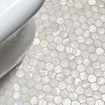 Mother of Pearl Hex Tile, Traditional, bathroom, Artistic Tile