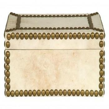 Decor/Accessories - Sargent Box | Jayson Home - nailhead box, nailhead trim box, vellum box with nailhead trim,