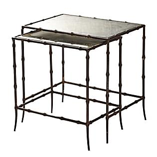 Tables - Mirrored Nesting Tables Set of 2 | Serena & Lily - mirrored nesting tables, nesting tables, traditional nesting tables,