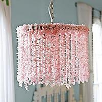 Lighting - Coco Chandelier | Serena & Lily - rose quartz chandelier, pink beaded chandelier, beaded rose quartz chandelier,