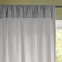 Window Treatments - Fog Chevron Window Panel | Serena & Lily - gray chevron window panel, gray chevron drapes, gray chevron curtains,
