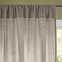 Window Treatments - Bark Chevron Window Panel | Serena & Lily - gray chevron window panel, gray chevron drapes, gray chevron curtains,