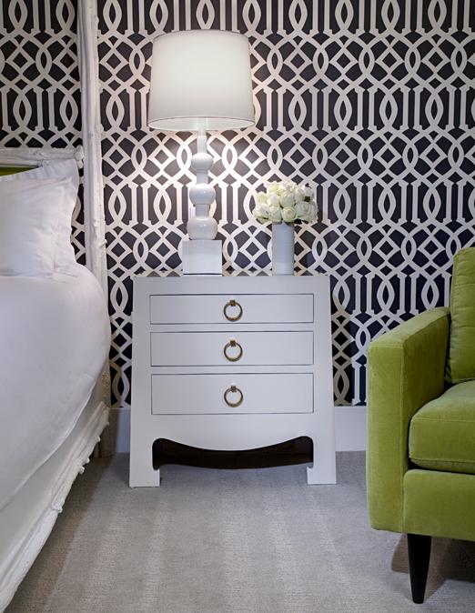 Imperial Trellis Wallpaper Contemporary Bedroom Nb Design Group