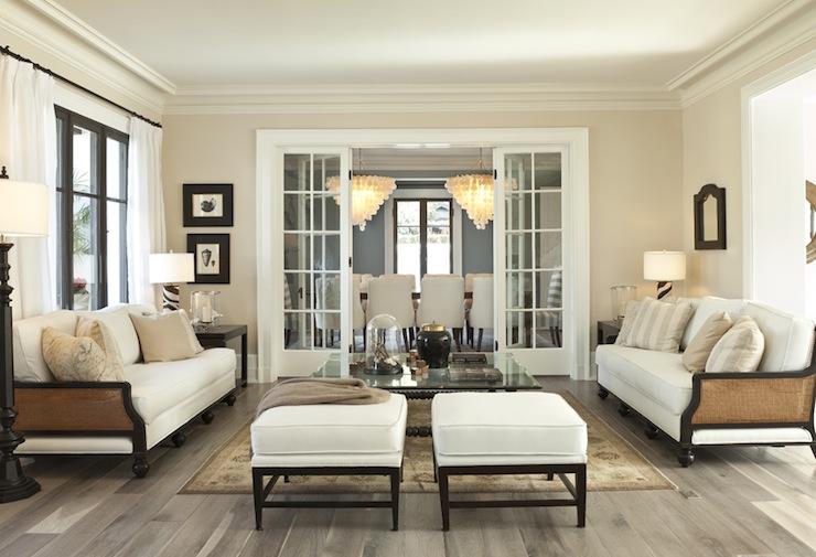 Cane Sofa Transitional Living Room Gordon Gibson