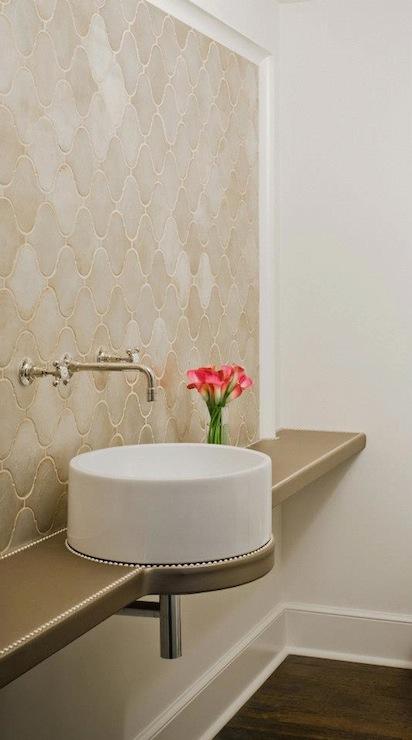 Arabesque Tile Contemporary Bathroom Ruard Veltman
