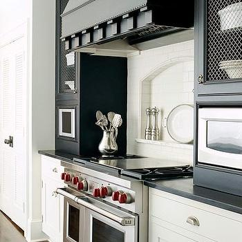 Black and White Kitchen, Contemporary, kitchen, BHG