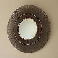 Mirrors - Metal Starburst Mirror | Serena & Lily - metal sunburst mirror, iron sunburst mirror, modern sunburst mirror,