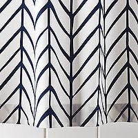 Bath - Navy Feather Shower Curtain | Serena & Lily - navy and white geometric shower curtain, navy and white chevron shower curtain, navy and white herringbone shower curtain,