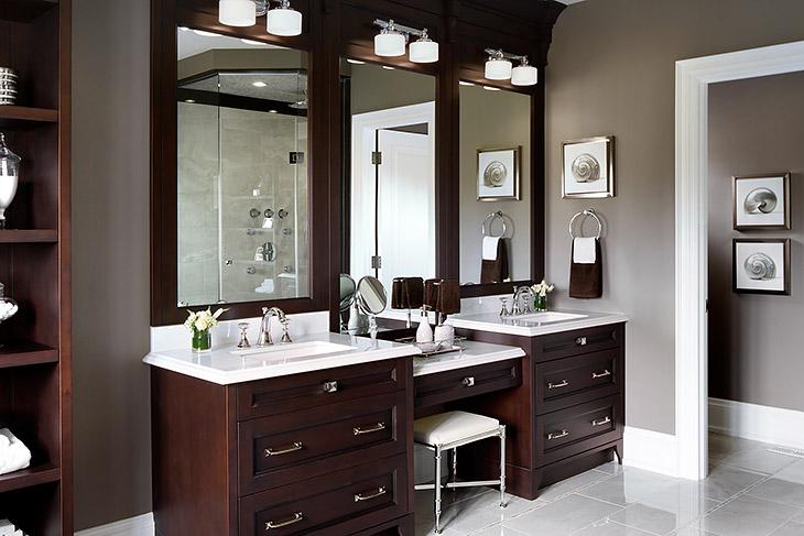 Drop Down Make Up Vanity Traditional Bathroom Jane Lockhart Interior De