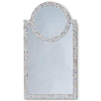 Mirrors - Regina Andrew Decor Harbor Mother of Pearl Mirror I Layla Grayce - mother of pearl mirror, arched mother of pearl mirror, mother of pearl mosaic mirror,