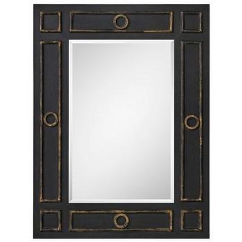 Mirrors - Batton Mirror I Layla Grayce - black framed mirror, black and bronze mirror, contemporary black mirror,