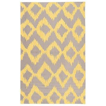 Rugs - Surya Frontier Enchant Lemon Hand Woven Flatweave Rug I Layla Grayce - contemporary yellow and taupe rug, yellow and taupe rug, zigzag diamond yellow and taupe rug,