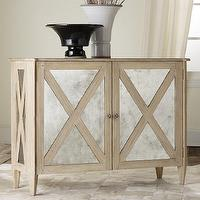 Storage Furniture - Mirrored Two Door Cabinet I Layla Grayce - mirror fronted oak cabinet, mirrored oak cabinet, mirrored x-front cabinet,