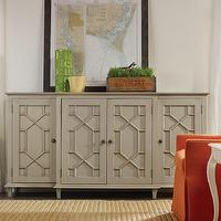 Storage Furniture - Somerset Bay Portland Sideboard I Layla Grayce - lattice front sideboard, gray lattice fronted sideboard, gray sideboard,