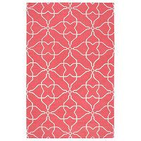 Rugs - Surya Frontier Nature Honeysuckle Pink Hand Woven Flatweave Rug I Layla Grayce - pink and white geometric rug, pink and white modern rug, pink and white abstract floral rug,