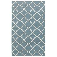 Rugs - Surya Frontier Marrakesh Stormy Sea Hand Woven Flatweave Rug I Layla Grayce - blue and white moroccan rug, blue and white tiled rug, blue and white moorish rug,