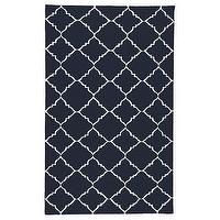 Rugs - Surya Frontier Marrakesh Dark Blue Hand Woven Flatweave Rug I Layla Grayce - navy and white moroccan rug, navy and white tiled rug, navy and white moorish rug,