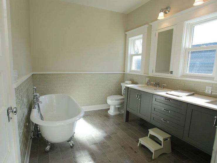 Gray Cabinets Contemporary Bathroom Jas Design Build