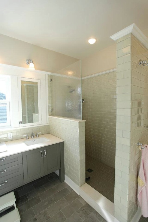 Bathroom Floor Build Up : Gray bathroom design contemporary jas