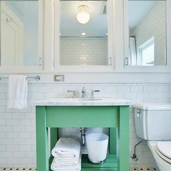 Green Vanity, Contemporary, bathroom, JAS Design Build