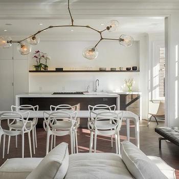 Lindsey Adelman Chandelier, Modern, kitchen, Sutro Architects