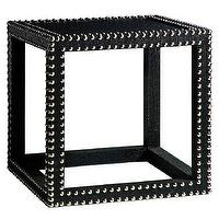 Tables - Bungalow 5 Marco Side Table Black I Layla Grayce - black side table with nailhead trim, modern black side table, black side table with silver nailhead trim,