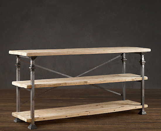 Restoration hardware bakers rack console look 4 less - Restoration hardware entry table ...