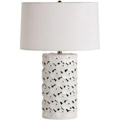 Lighting - Arteriors Castillo White Porcelain Table Lamp I Layla Grayce - white porcelain table lamp, floral white table lamp, white porcelain floral table lamp,