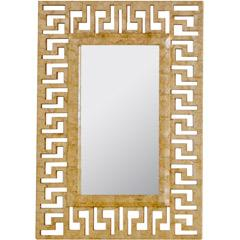 Mirrors - Worlds Away Mabrey Greek Key Gold Mirror I Layla Grayce - greek key mirror, gold greek key mirror, gold capiz shell mirror, gold capiz shell greek key mirror,