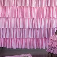 Bath - Kiss Ruffled Shower Curtain I Layla Grayce - pink and purple ruffled shower curtain, ruffled shower curtain, ruffled pink and lilac shower curtain,