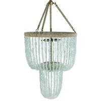 Lighting - Ro Sham Beaux Carmen Chandelier I Layla Grayce - recycled glass chandelier, blue recycled glass chandelier, blue glass beaded chandelier,