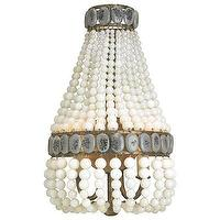 Lighting - Currey & Company Lana Wall Sconce Cream I Layla Grayce - cream beaded sconce, beaded cream wall sconce, beaded wall sconce,
