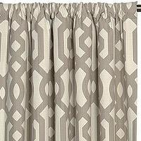 Window Treatments - Rayland Curtain Panel Set I Layla Grayce - geometric brown and beige curtains, geometric curtains, geometric drapes,