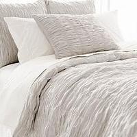 Bedding - Pine Cone Hill Smocked Dove Grey Duvet Cover I Layla Grayce - ruched gray bedding, ruched dove gray bedding, ruched gray duvet cover,