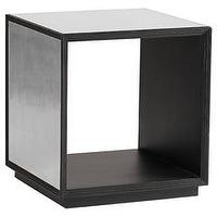 Tables - Gabby Furniture Anthony Mirrored Cube I Layla Grayce - mirrored cube, retro style mirrored cube, black wood cube with mirrored sides,