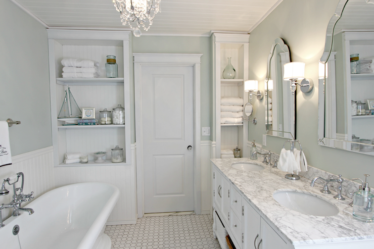 Sherwin Williams Sea Salt - Traditional - bathroom - Sherwin