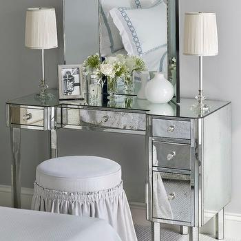 Mirrored Vanity, Traditional, bedroom, Sandra Nunnerley