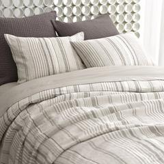 Bedding - Pine Cone Hill Gradation Linen Duvet Cover I Layla Grayce - gray linen striped duvet cover, gray striped duvet cover, gray linen striped bedding,